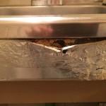 ミニキッチン 正面板・スイッチ面 キッチンパネル貼り