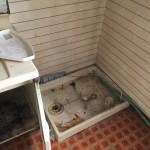 戸建*洗濯機置き場*洗面所*洗濯パン交換