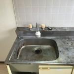 2DK*キッチン*水栓ハンドル交換*収納扉取っ手交換*コーキング打替え