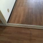 入口枠敷居(引違襖下の敷居) 敷居すべり張り+木枠塗装
