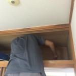 天袋収納の天井ベニヤ張替え