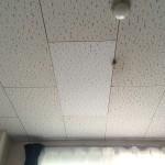 ジプトーン天井 貼り替え作業